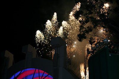 Fireworks over the Hollywood Bowl