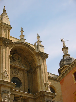 Beautiful buildings of Granada in Spain