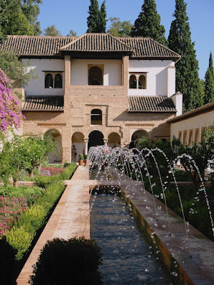 The fountains of the Alhambra in Granada