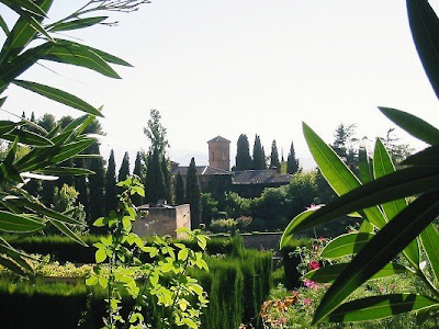Inside the gardens of The Alhambra