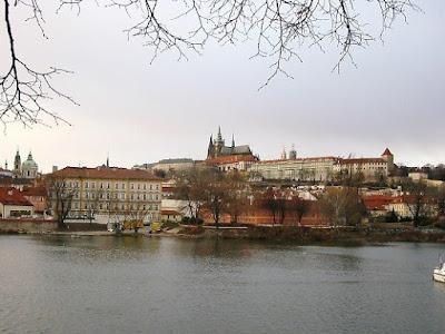 The Vltava River that runs through Prague