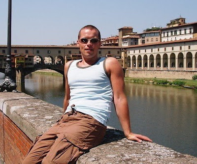 Jason by the Ponte Vecchio in Florence, Italy