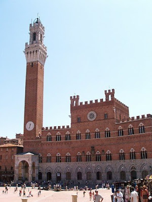 Piazza del Campo in Siena in Italy