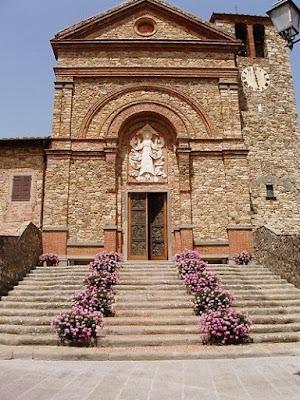 Hilltop Church in Panzano in Chianti, Tuscany
