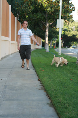Coopers second walk with Jason in Hollywood