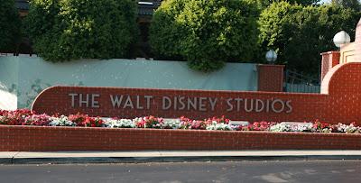 The Walt Disney Studios entrance sign in Burbank