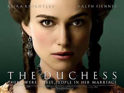 Keira Knightley featured on The Duchess movie poster