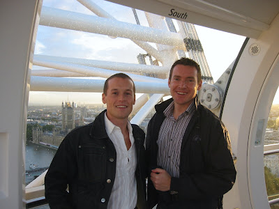Jason and Charlie ride The London Eye