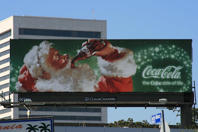 Classic Father Christmas Coke billboard
