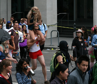 On shoulders at Bay to Breakers 2010