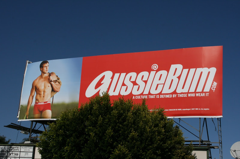 AussieBum Matthew Wilson underwear model billboard