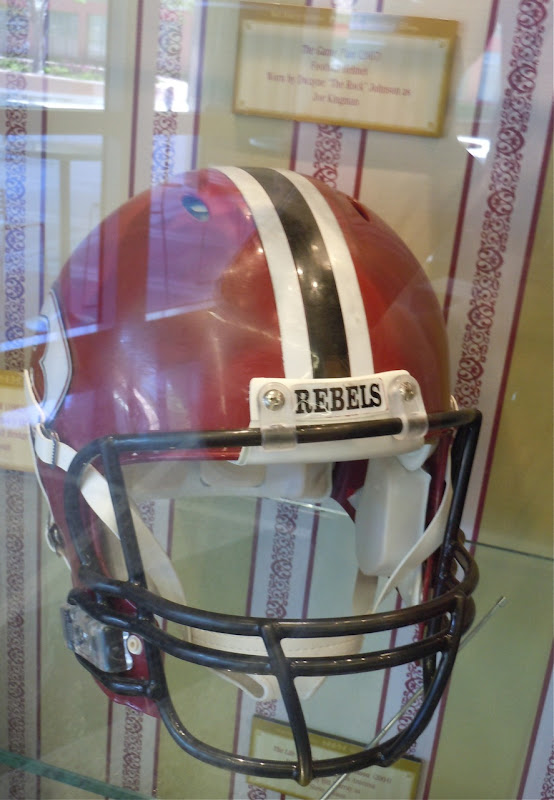 The Rock's Game Plan football helmet