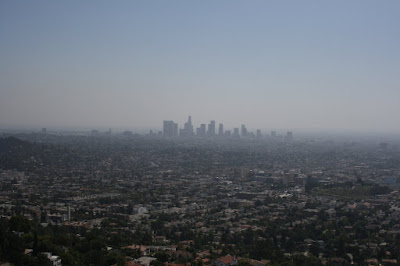 Downtown LA viewed from Griffith Observatory in October 2008