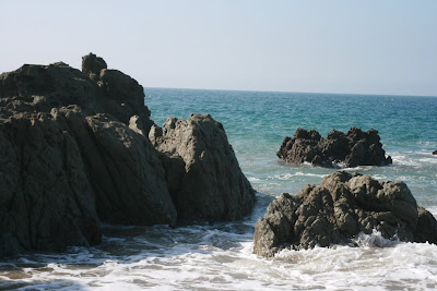 Sycamore Cove rocks in the surf