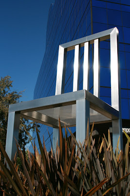 Seat of Design chair sculpture at Pacific Design Center