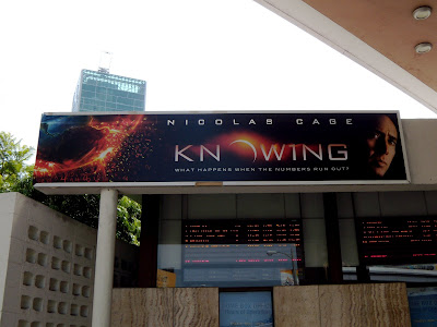 Knowing movie billboard at Cinerama Dome