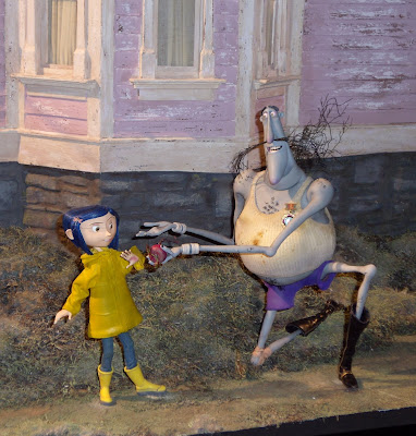 Original Coraline stop-motion models on display
