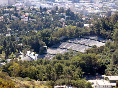 Sun drenched Hollywood Bowl amphitheater