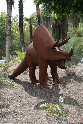 Triceratops sculpture at LA Zoo