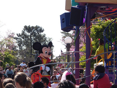 Mickey Mouse at Disneyland dance parade