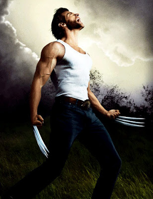 Hugh Jackman as the mutant Wolverine