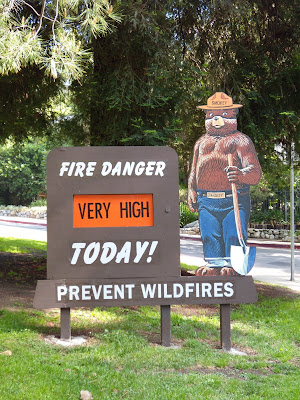 Griffith Park fire danger sign