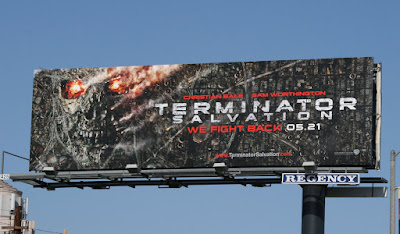 Terminator Salvation skull film billboard
