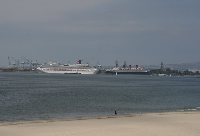 Ocean liners at Long Beach seaport