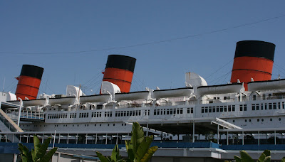 Queen Mary ocean liner at Long Beach port