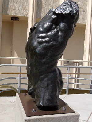 Rodin's Marsyas - Torso of the Falling Man sculpture