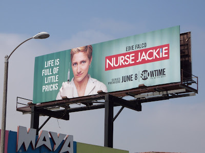 Nurse Jackie TV series billboard