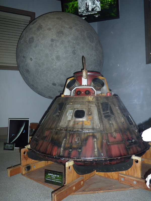 Apollo 13 Command module miniature and moon prop