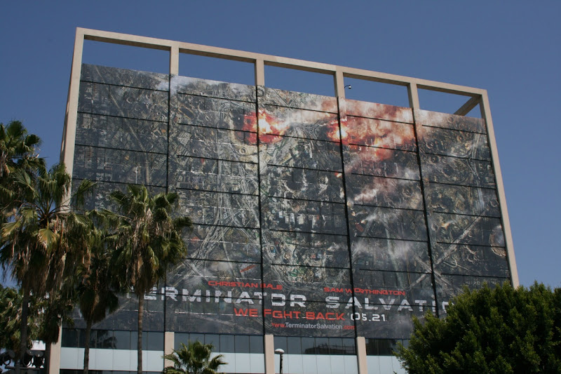 Terminator Salvation movie skull billboard