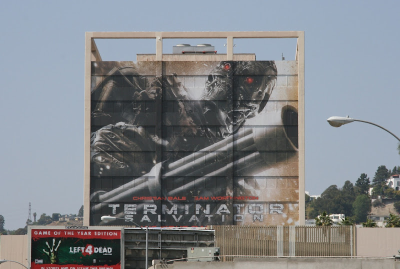 Terminator Salvation building movie billboard