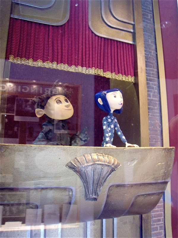 Coraline stop-motion animation puppets