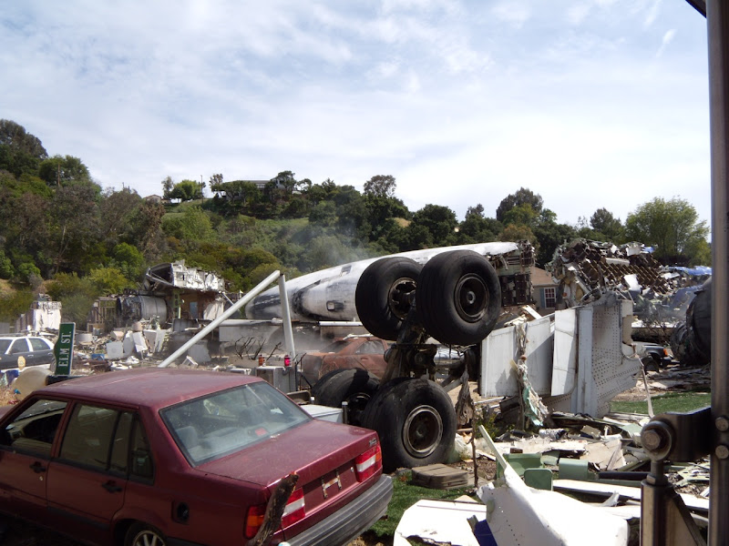 Actual studio backlot movie set for War of the Worlds