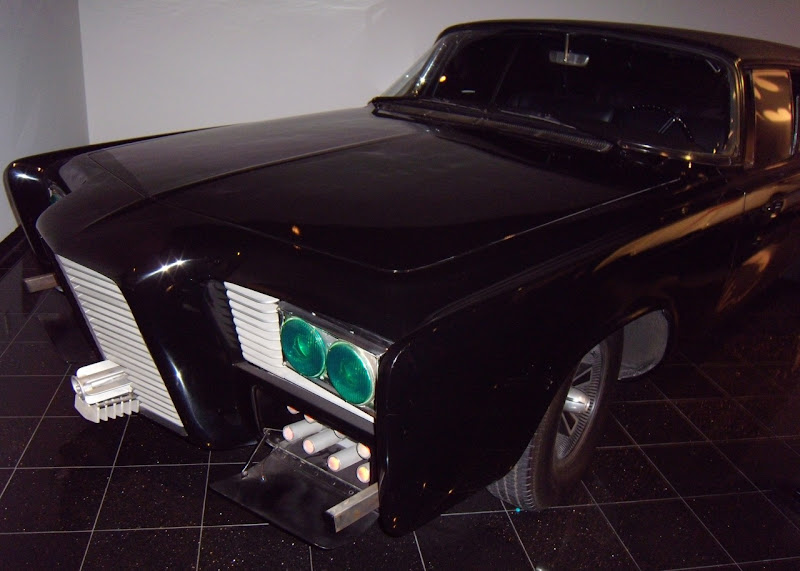 Customized 1966 Imperial Green Hornet's Black Beauty car