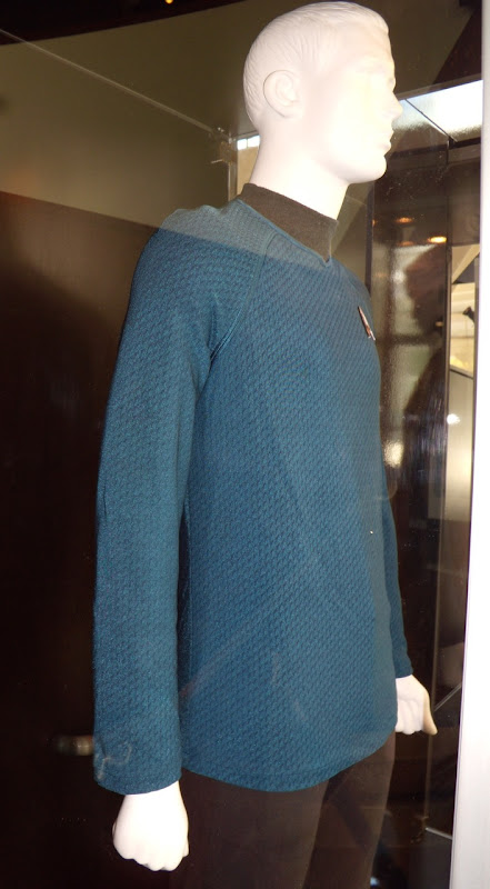 Close up of blue Star Trek Starfleet uniform