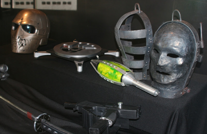 GI Joe film masks and weapon props