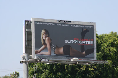 Surrogates movie female model billboard