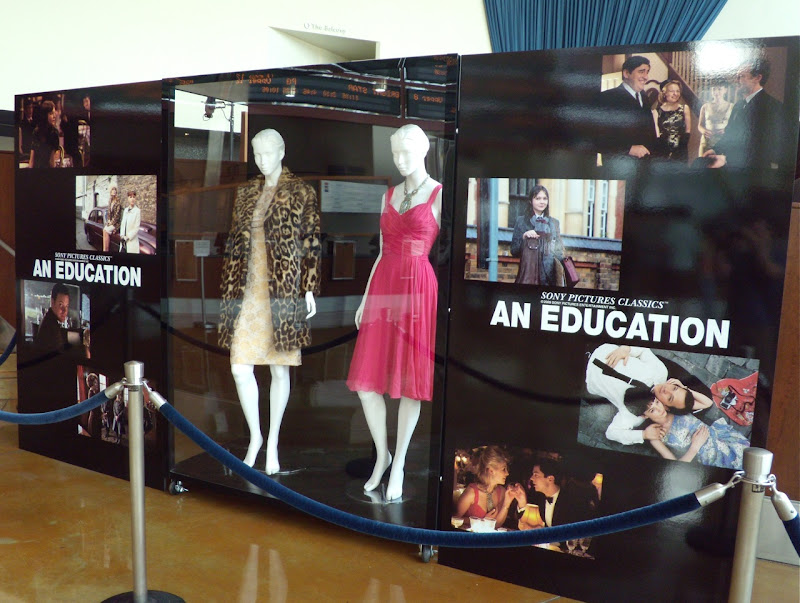 An Education movie costume display