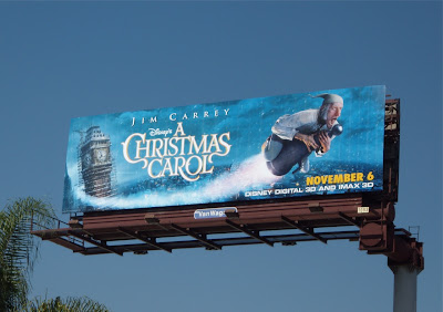 Disney A Christmas Carol movie billboard