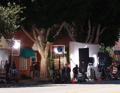 TV filming Toluca Lake
