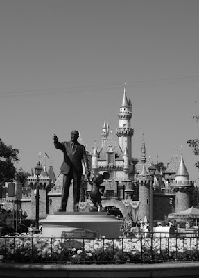 Disneyland Central Plaza in mono