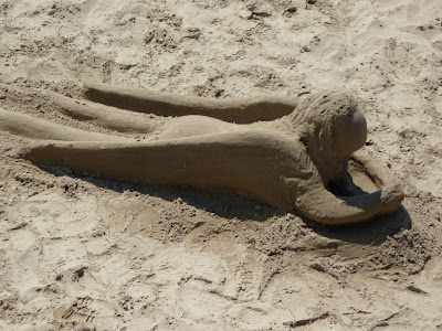 Santa Barbara beach sand angel