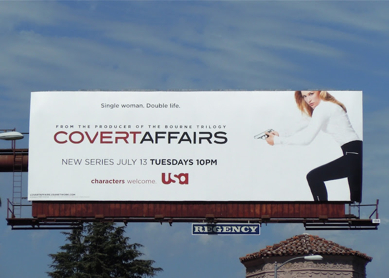 Covert Affairs TV billboard