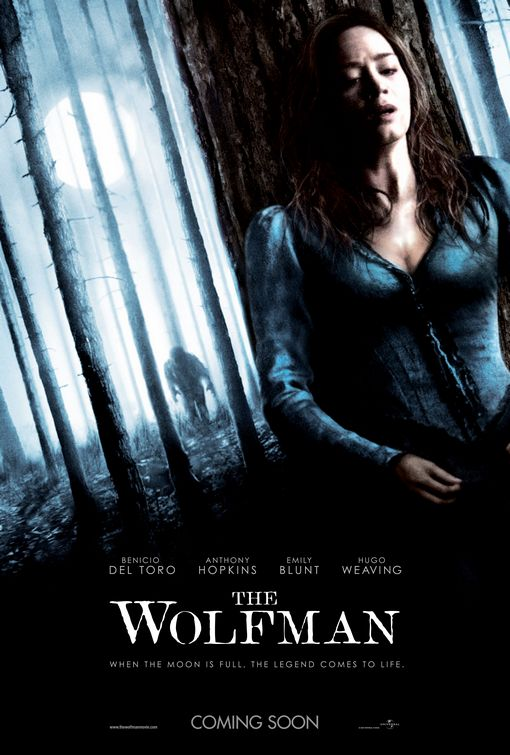 Emily Blunt The Wolfman poster