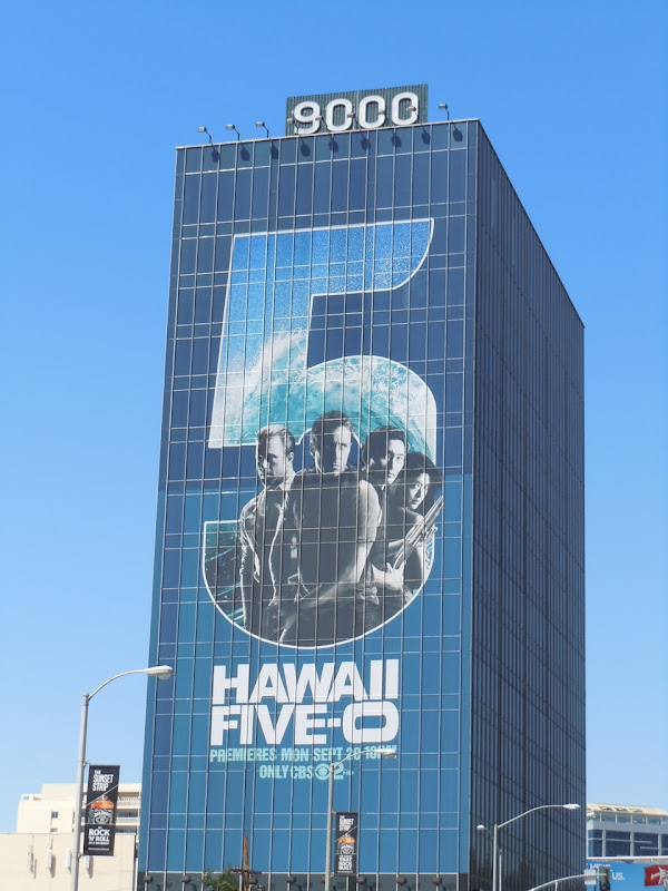 Hawaii Five-O billboard 9000 Sunset Strip