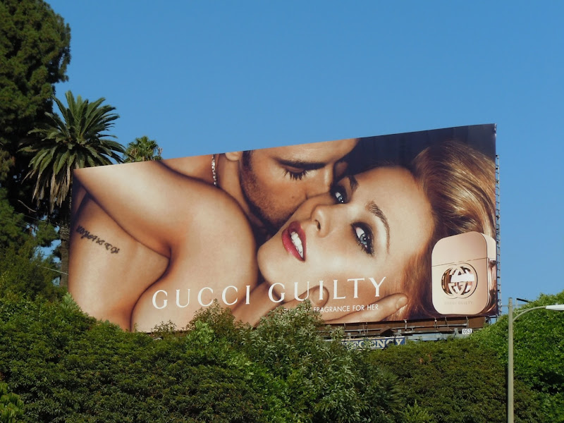 Gucci Guilty fragrance billboard