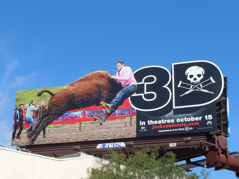 Jackass 3D Bull movie billboard
